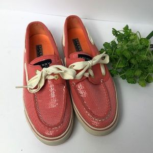 Sperry Top-Sider canvas/sequins tie loafer